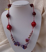 Red Jewelry - Red Spiral Necklace by Nurit Schlomi von-strauss