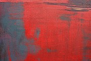 Alizarin Crimson Paintings - Red Square Dissected VIII  c2010 by Paul Ashby