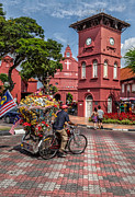 Red Square Malacca Print by Adrian Evans