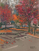 Autumn Foliage Pastels Prints - Red Stop Print by Donald Maier