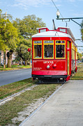 Kathleen K Parker - Red Streetcar on Canal...