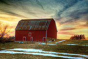 Kansas Art - Red Sunrise by Thomas Zimmerman