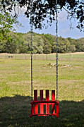 Hallmark Photos - Red Swing by Kristina Deane
