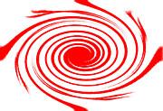 Red Swirl War  Print by Lali Kacharava