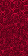 Patterned Prints - Red Swirls Print by Frank Tschakert
