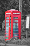 David King Posters - Red Telephone Box Poster by David King