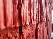 Red Texture Print by Jenna Mengersen