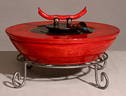 Featured Ceramics - Red Tibetan Vessel by Beth Gramith