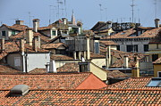 Red Roof Photos - Red tiled roofs from Doges Palace by Sami Sarkis