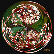 Jeff Mcjunkin Metal Prints - Red Tip Orb I Metal Print by Jeff McJunkin