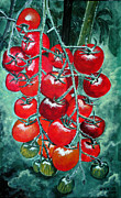 Tomatos Painting Metal Prints - Red tomatos Metal Print by Huy Lee