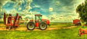 Red Tractor Farm Print by  Caleb McGinn