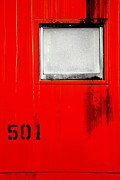 Old Caboose Photos - Red Train Caboose 2 by Andrew Glisson