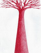 Giuseppe Epifani Metal Prints - Red tree Metal Print by Giuseppe Epifani