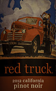 Pinot Noir Photos - Red Truck by Mitch Shindelbower