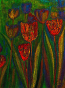 Claire Bull - Red Tulips