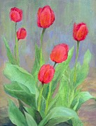 K Joann Russell - Red Tulips Colorful...
