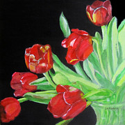 Linda Feinberg - Red Tulips in Vase