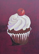 Maraschino Prints - Red Velvet Cupcake Print by Susan Richardson