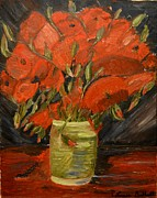 Louise Burkhardt Painting Metal Prints - Red Velvet Metal Print by Louise Burkhardt