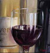 Wine Tasting Prints - Red Print by Viktoria K Majestic