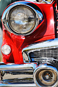 Chrome Mixed Media Prints - Red Vintage Buick Print by AdSpice Studios