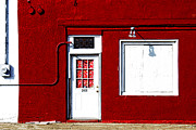 Entrance Door Posters - red wall in Hico Poster by Elena Nosyreva