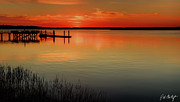 Lowcountry Metal Prints - Red Water Metal Print by Phill  Doherty