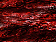 Red Waves Print by Dennis James