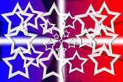 Stars And Bars Framed Prints - Red White and Blue Framed Print by Gary Silverstein