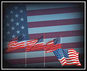 Kkphoto1 Posters - Red White And Blue Poster by Kay Novy