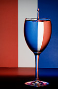 Food And Beverages Prints - Red White and Blue Print by Susan Candelario