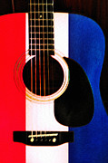Blues Digital Art - Red White and Blues by Bill Cannon