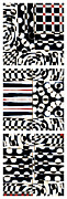 Op Art Prints - Red White Black Number 4 Print by Carol Leigh
