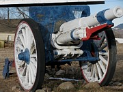 Photogrphy Prints - Red White Blue Cannon Print by Steven Parker