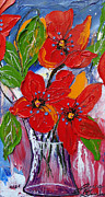 James Dunbar - Red Wildflowers 3
