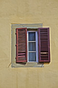 Traffic Sign Photos - Red Window Shutters of Florence by David Letts