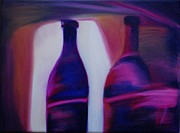 Zinfandel Originals - Red Wine Abstract by Leisa Shannon Corbett