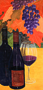 Syrah Painting Prints - Red Wine Print by Don Nicholson