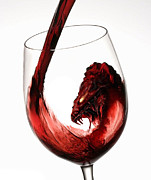Wine Pour Digital Art Posters - Red Wine Dragon Poster by Kieth Goode