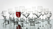 Winetasting Metal Prints - Red Wine Glass Metal Print by Adrian Popescu