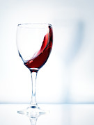 Wine Glasses Prints - Red wine in a glass Print by Oleksiy Maksymenko