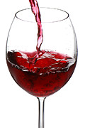Alcohol Photos - Red wine by Jaroslaw Grudzinski