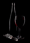Stopper Posters - Red Wine Poster by Marcia Colelli