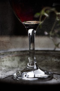 Red Wine Print by Mythja  Photography