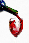 Wine Pouring Prints - Red wine pouring Print by Georgi Dimitrov