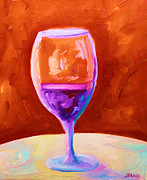 Food And Beverage Painting Originals - Red Wine by Todd Bandy