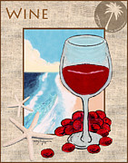 Red Wine Pastels - Red Wine by William Depaula