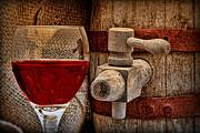 Red Wine With Tapped Keg Print by Tom Mc Nemar