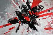 Bird Art Originals - Red Wing by Jeremy Scott